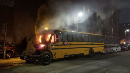 Dr. Renee Scapparone Comforts Students After Bus Fire