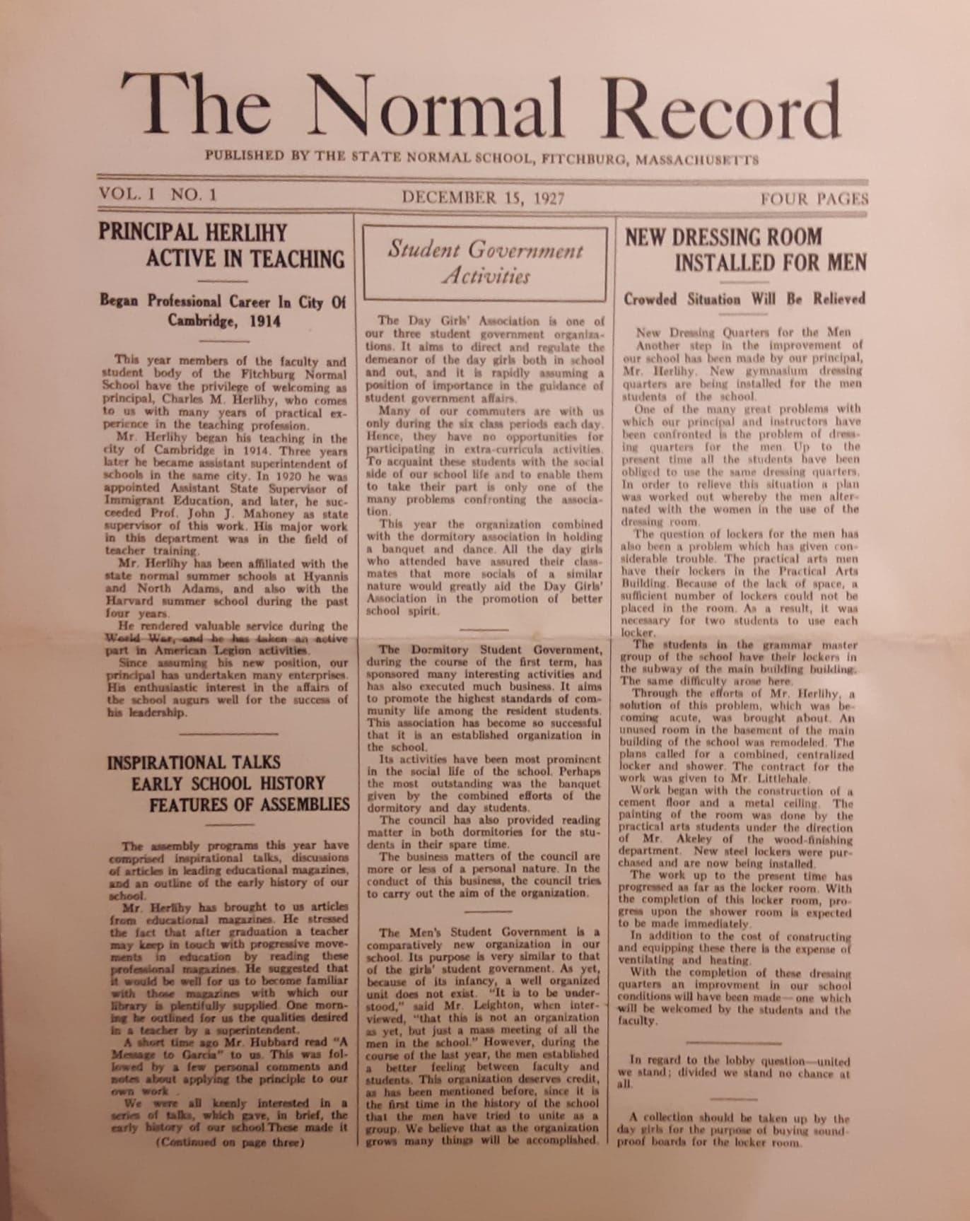 The Normal Record Vol 1 No 1