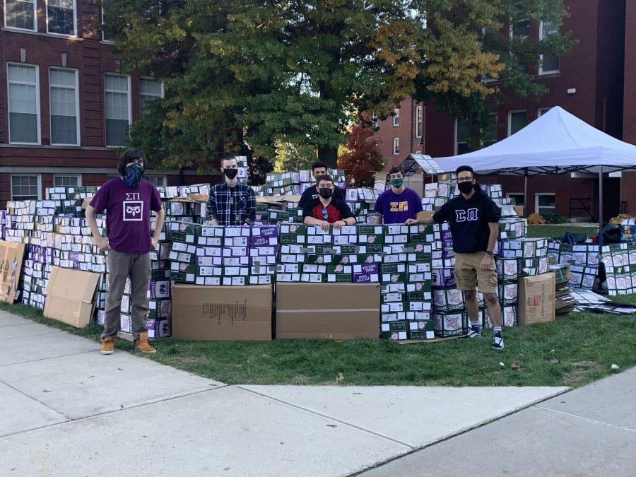 Sigma Pi Sleeps Out for the Homeless