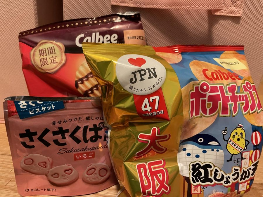 Calbee chips and Sakusaku Panda Cookies are some of the snacks that can be found in a Tokyo Treat subscription box. Photo courtesy of Brittany Eldridge