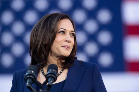 Speakers at the event referred to Shirley Chisholm, Carol Mosely-Braun, and Kamala Harris as role models and sources of inspiration. Photo courtesy of Noah Berger/Getty Images.